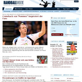 TYPO3 development in the relaunch of Europe's largest handball magazine.